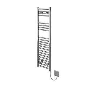 Kudox Electric Towel Rail 300x1100mm Flat Chrome Radiator