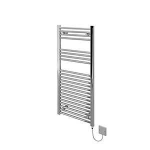 Kudox Electric Towel Radiator 500 x 1100mm Flat Chrome