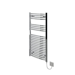 Kudox Electric Towel Radiator 500 x 1100mm Curved Chrome