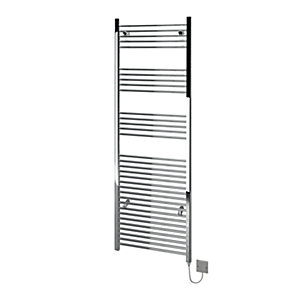 Kudox Electric Towel Radiator 600 x 1800mm Flat Chrome