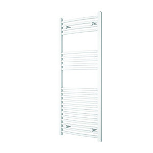 Wickes Curved Towel Radiator White 1200x500mm