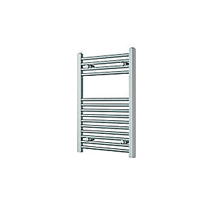 Wickes Straight Towel Radiator Chrome 750x500mm