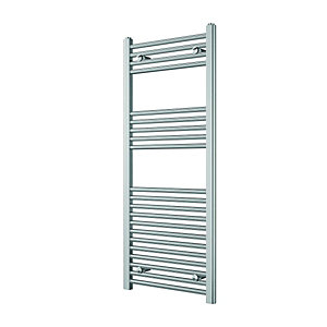 Wickes Straight Towel Radiator Chrome 1200x500mm