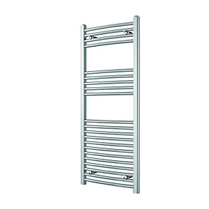 Wickes Curved Towel Radiator Chrome 1200x500mm