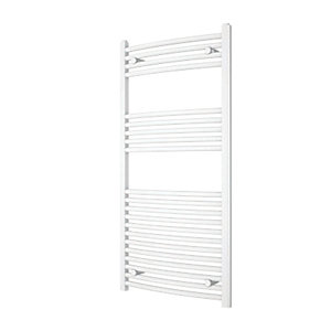 iflo 25mm Curved Towel Rail White 1200mm x 600mm