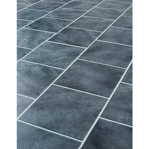 Wickes anthracite tile effect laminate flooring for Tile effect laminate flooring