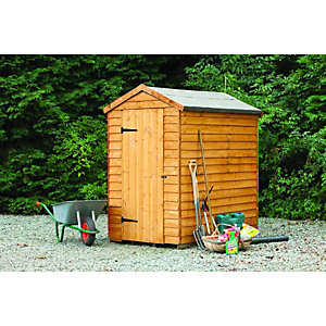 Wickes Overlap Security Apex Shed 6x4