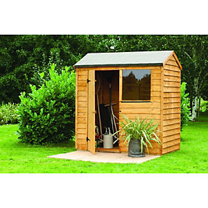 Wickes Overlap Reverse Apex Shed 8x6