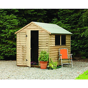 Wickes Overlap Pressure Treated Apex Shed 8x6