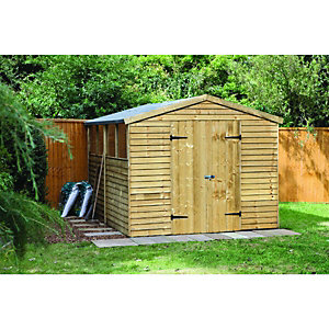 Wickes Overlap Workshop Pressure Treated 2.6x3.1m