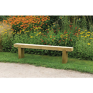 Forest Garden Sleeper Bench 1.8m