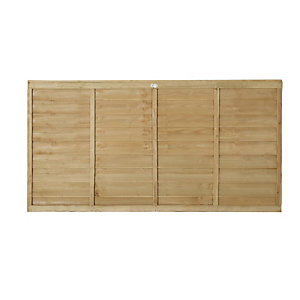Wickes Pressure Treated Overlap Fence Panel 1.8mx0.9m 3 Pack