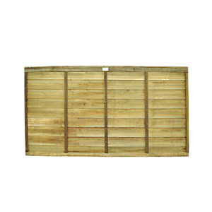 Wickes Pressure Treated Overlap 1.8mx0.9m 20 Pack