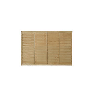 Wickes Pressure Treated Overlap Fence Panel 1.83m x 1.21m 5 Pack