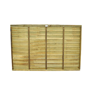 Wickes Pressure Treated Overlap Fence Panel 1.83m x 1.21m 20 Pack