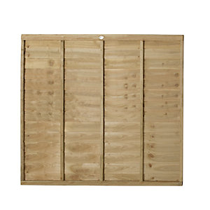 Wickes Pressure Treated Overlap 1.8mx1.5m 3 Pack