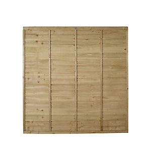 Wickes Pressure Treated Overlap Fence Panel 1.83m x 1.83m 5 Pack