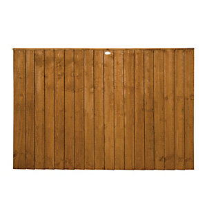 Wickes Featheredge Fence Panel 1.8mx1.2m 3 Pack