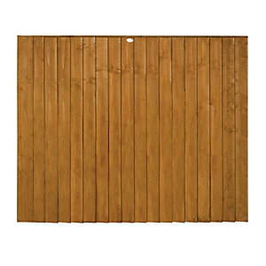 Wickes Featheredge Fence Panel Multipack 1.8mx1.5m (6'x5')