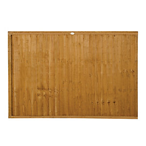 Wickes Closeboard Fence Panel 1.8mx1.2m 3 Pack