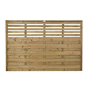 Wickes Kyoto Fence Panel Multipack 1.8mx1.2m (6'x4')