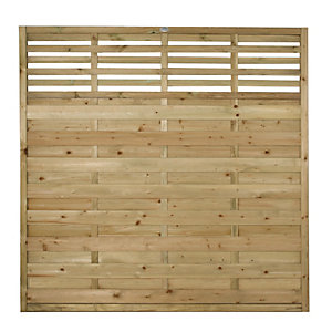 Wickes Kyoto Fence Panel Multipack 1.8mx1.8m (6'x6')