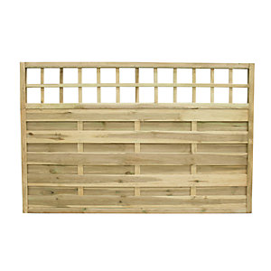Wickes Hertford Fence Panel 1.8mx1.2m 3 Pack