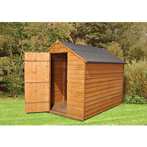 Wickes Overlap Apex Shed With No Window 8x6