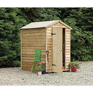 Wickes Pressure Treated Overlap Shed No Window 6x4
