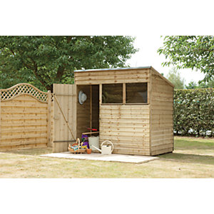 Wickes Pressure Treated Overlap Pent Shed 7x5