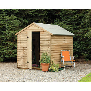 Wickes Pressure Treated Overlap Shed 8x6