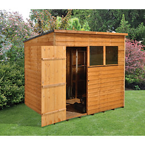 Wickes Overlap Pent Shed 8x6
