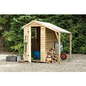 Wickes Pressure Treated Overlap Shed 6x4