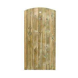 Wickes Pressure Treated Curved Top Gate 1800x900mm