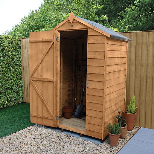 wickes overlap dip treated apex shed 4x3. Black Bedroom Furniture Sets. Home Design Ideas