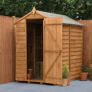 Wickes Overlap Dip Treated Apex Shed No Windows 4x6