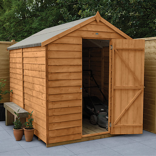 wickes overlap dip treated apex shed no windows 6x8. Black Bedroom Furniture Sets. Home Design Ideas