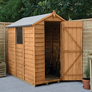 Wickes Overlap Dip Treated Apex Shed 4 x 6
