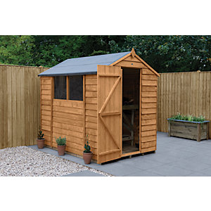 Wickes Overlap Dip Treated Apex Shed 5x7