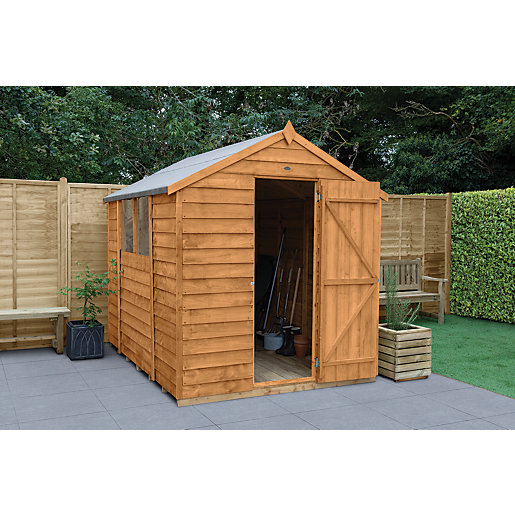 wickes overlap dip treated apex shed 6x8. Black Bedroom Furniture Sets. Home Design Ideas