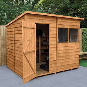 Wickes Overlap Dip Treated Pent Shed 8x6