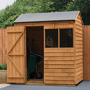 Wickes Overlap Dip Treated Reverse Apex Shed 6 x 4