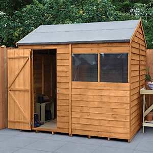 Wickes Overlap Dip Treated Reverse Apex Shed 8 x 6