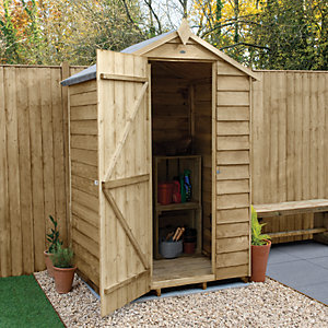 Wickes Overlap Pressure Treated Apex Shed 4 x 3
