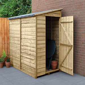 Wickes Overlap Pressure Treated Pent Shed 3x6