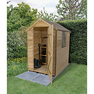 Wickes Overlap Pressure Treated Apex Shed 4 x 6