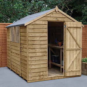 Wickes Overlap Pressure Treated Apex Shed 6x8