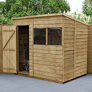 Wickes Overlap Pressure Treated Pent Shed 7x5