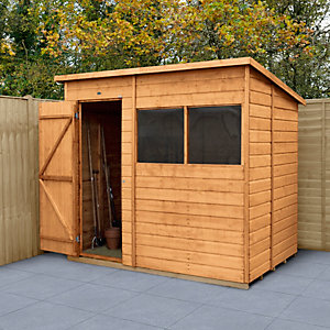 Wickes Shiplap Dip Treated Pent Shed 7x5