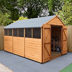 Wickes Shiplap Dip Treated Apex Shed Double Doors 8x12